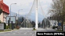 Puste ulice Podgorice zbog pandemije koronavirusa (Foto: RFE/RL/Savo Prelević)