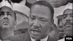 """馬丁‧路德‧金發表著名的""""我有一個夢""""的講演"""