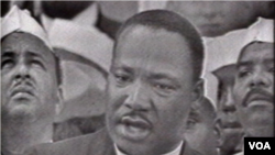 """马丁•路德•金发表著名的""""我有一个梦""""的讲演"""