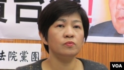台灣在野黨台聯黨立委 黃文玲(美國之音張永泰拍攝)