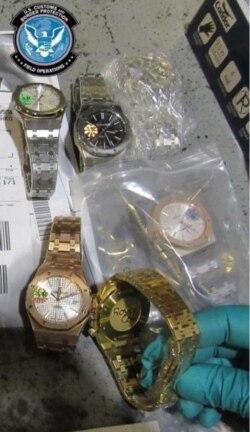 来自中国的假冒手表(CBP)