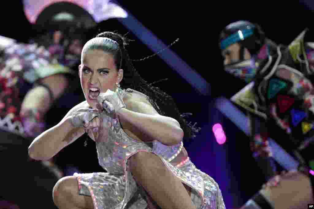 Katy Perry performs at the Rock in Rio music festival in Rio de Janeiro, Brazil.