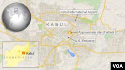 به کابل ښار ځنې هغه ساحې چې ځانمرګي بریدونه پکې شوي