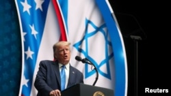 Дональд Трамп выступает на саммите Национального саммита Израильско-Американского совета, Флорида