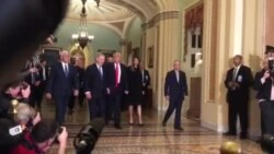 Trump Arrives at Congress to Meet with Leaders