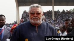 Jerry Rawlings mokonzi ya kala Ghana, na Accra, 7 janvier 2017.