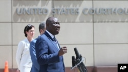 Attorney Ben Crump speaks during a news conference, July 15, 2020 in Minneapolis announcing a civil lawsuit against the city of Minneapolis and the officers involved in the death of George Floyd.