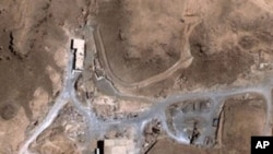 This August 5, 2007 satellite image provided by DigitalGlobe shows a suspected nuclear reactor site in Syria.
