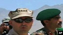 Admiral James Stavridis at Camp Blackhorse, outside Kabul, 27 May 2010