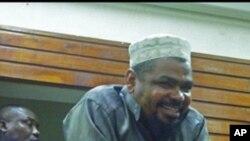 Imam Sheikh Aboud Rogo Mohammed kwenye baraza ya mahakama moja mjini Mombasa