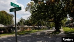 FILE - A quiet street is seen in Livonia, Michigan, Oct. 9, 2019. Thirteen nuns from a Roman Catholic convent in Livonia have died from coronavirus since April 10, 2020.