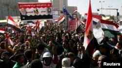 Biểu tình chống Tổng thống Ai Cập Mohamed Morsi tại Quảng trường Tahrir, trong thủ đô Cairo, Ai Cập, 25/1/13