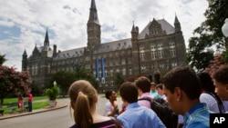 Vue sur l'université de Georgetown, à Washington DC, le 10 juillet 2013.