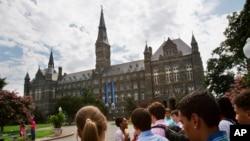 Université de Georgetown, à Washington DC, le 10 juillet 2013.