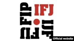 國際記者聯盟標誌。