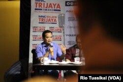 Pengamat komunikasi politik UIN Jakarta, Gungun Heryanto, mengatakan kasus ini memang menciptakan Citra buruk di mata masyarakat. Namun hal itu lebih berdampak kepada PPP sebagai partai, bukan kepada Presiden Joko Widodo, 16 Maret 2019. (Foto:Rio Tuasikal