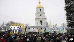 უკრაინელები ერთიანი მართლმადიდებელი ეკლესიის დაბადებას ზეიმობენ