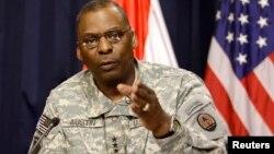 로이드 오스틴 미 중부군 사령관 (자료사진)