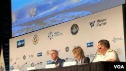 美军高官2019年7月18日出席威尔逊中心主办的北极讨论会(美国之音黎堡)