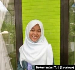 Jurnalis Rakyat Merdeka Online (RMOL) Lampung Tuti Nurkhomariyah. (Foto: Courtesy/Dokumentasi Tuti)