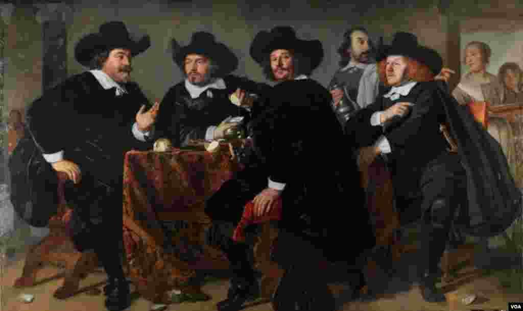 "Bartolomey van der Helst, ""Kloveniersdoelenin İdarəçiləri"" (1655)"