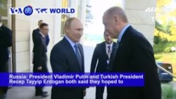 VOA60 World - Russia, Turkey Leaders Hold Talks on Fate of Syria Border