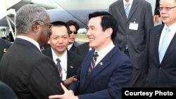 台湾总统马英九出访非洲。(台湾总统府)