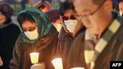 Những người Bắc Triều Tiên đào thoát sang miền Nam tham gia buổi tập họp để tưởng nhớ các nạn nhân bị miền Bắc tấn công và kêu gọi nhân quyền và tự do cho miền Bắc