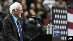 Kandidat Capres AS dari Partai Demokrat, Partai Demokrat dalam sebuah kampanye (foto: dok).