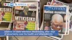 VOA60 Afrikaa - Tanzanian President John Magufuli Dies