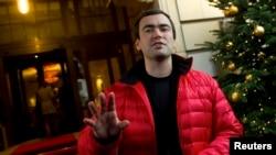 Pavel Hodorkovski sin Mihaila Hodorkovskog u Berlinu na konferenciji za štampu