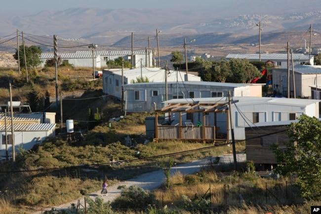 Ramallah yakınındaki Amona'da izinsiz bir yerleşim