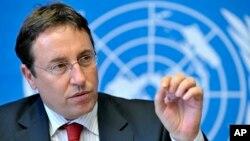 លោក Achim Steiner សញ្ជាតិអាល្លឺម៉ង់ ដែលជានាយកកម្មវិធីបរិស្ថានរបស់អង្គការសហប្រជាជាតិ (UNEP) ថ្លែងនៅក្នុងអត្ថាធិប្បាយព័ត៌មានមួយនៅក្នុងក្រុងហ្សឺណែវ (Geneva) ប្រទេសស្វ៊ីស (Switzerland)។