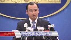 Việt Nam phản ứng vụ TQ kêu gọi 'chiến tranh trên biển'