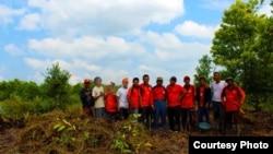 Anggota organisasi Gafatar menyiapkan lahan pertanian di Kalimantan pada tahun 2013. (Foto: dok.)