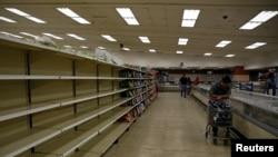 Venesuela mağazalarında boş rəflər normaya çevrilib.