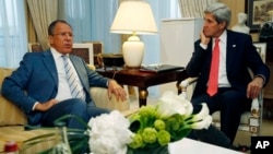 Встреча Сергея Лаврова и Джона Керри, Париж, 27 мая 2013г.