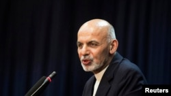 阿富汗總統加尼(資料圖片)星期日訪問美國