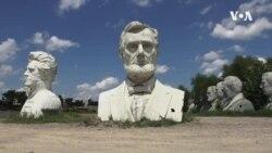 走进美国:流落荒郊的美国总统雕像