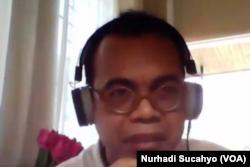 Pengajar Fakultas Hukum Universitas Balikpapan, M Nasir, dalam tangkapan layar. (Foto: VOA/Nurhadi Sucahyo)