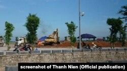 Khu mai táng cố Chủ tịch Trần Đại Quang được cho là rộng đến hơn 2 hectare, theo một bài đã bị VNExpress rút xuống