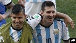 Sergio Aguero et Lionel Messi