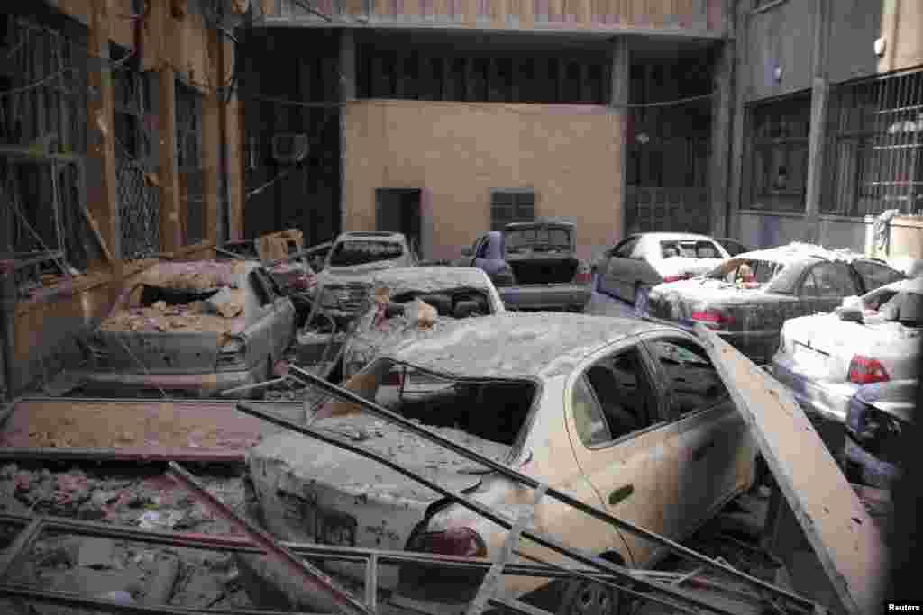 Hələb şəhəri dağıntılar altında - 10 fevral, 2014