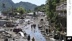 救援队抵达南太平洋受海啸侵袭地区