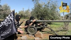 Syria's al-Nusra rebels posted this photo of its fighters using an M-60 anti-tank weapons, March 24, 2013