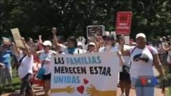 Протести проти імміграційної політики адміністрації Трампа пройшли вихідними. Відео