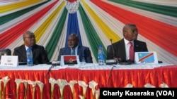 Les douze pays membres de l'organisation sous-régionale CIRGL (Conférence internationale sur la région des Grands Lacs) en réunion à Goma, en RDC, le 25 janvier 2917. (VOA/Charly Kaseraka)