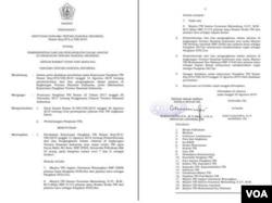SK Panglima TNI mengenai Pemberhentian dan Pengangkatan dalam Jabatan di Lingkungan TNI. (Foto: dokumen/TNI)