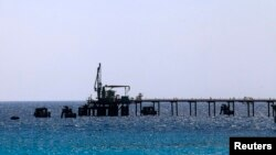 The Zueitina oil terminal, about 120 km west of Benghazi, Libya, is one of several that has been closed down by labor strife.
