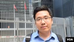工黨社區幹事趙恩來 (VOA湯惠芸攝)